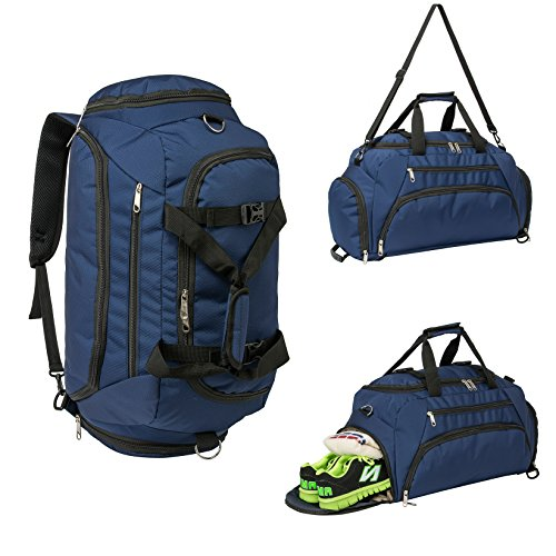 Travel Duffel Backpack Luggage Gym Sports Bag Large Tote Portable 3-Way For Fitness Outdoor Hiking (Gym Bag Backpack)