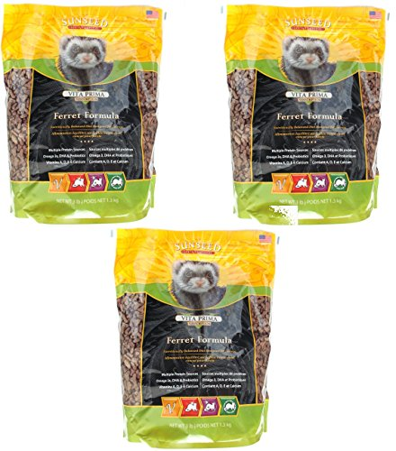 Sunseed Sunscription Vita Prima Ferret Formula, 3-Pound Bag (3 Pack) by Sun Seed