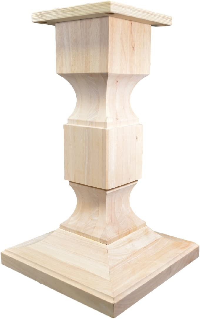 BingLTD – 28 Tall Chelsea Square Pedestal Table Base WH-Chelsea28-UNF