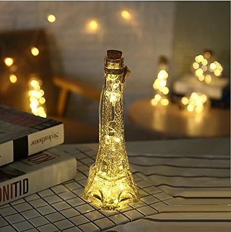 Wtdr Lámpara De La Botella De Vidrio De La Decoración De La Navidad Lámpara De Alambre