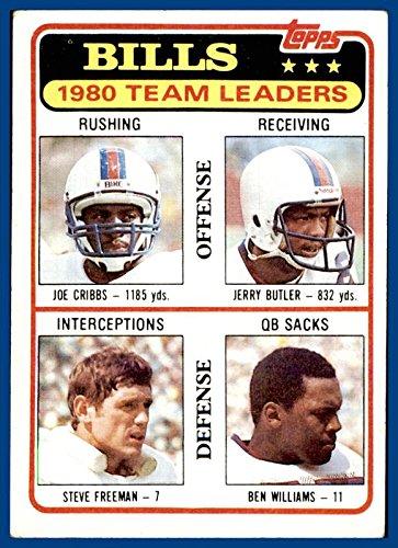 1981 Topps #226 Buffalo Bills Joe Cribbs Jerry Butler Steve Freeman Ben Williams (ex+ Unmarked -