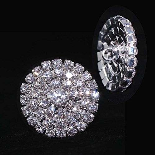 (Round Pave Button with Stone Center - Medium - #7100)