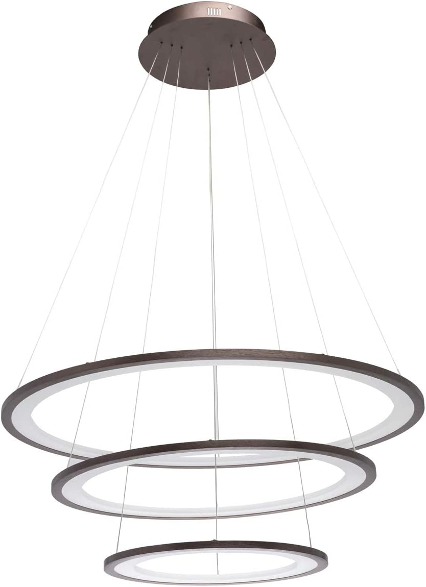 RegenBogen 661016803 Lustre Suspension 3 Cercles LED en