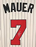 Joe Mauer Minnesota Twins Signed Autographed White Pinstripe #7 Jersey Inaugural Season Patch
