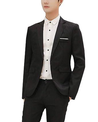 AnyuA Homme Slim Fit Manteau Costume Casual Affaires Mariage  Amazon.fr   Vêtements et accessoires fb395a980db