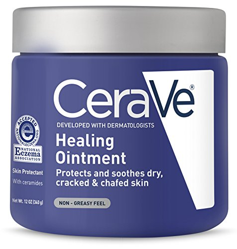CeraVe Healing Ointment | 12 Ounce | Cracked Skin Repair Skin Protectant with Petrolatum Ceramides | Lanolin & Fragrance Free (Eczema Ointment)