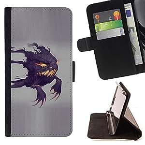 Jordan Colourful Shop - Funny Scary Ghost For Sony Xperia M2 - < Leather Case Absorci????n cubierta de la caja de alto impacto > -