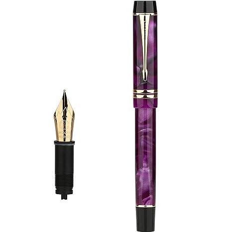 GZL 万年筆 高級筆記具 金属製ペン先 極細字 オシャレ ガラスペン なめらかに書ける筆感 手紙 便箋 イラスト 文房具 万年筆ギフトセット (0.5 Mm)