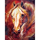 Noble Equine Theme Wall Art Painting with Dignified Stallion Portrait