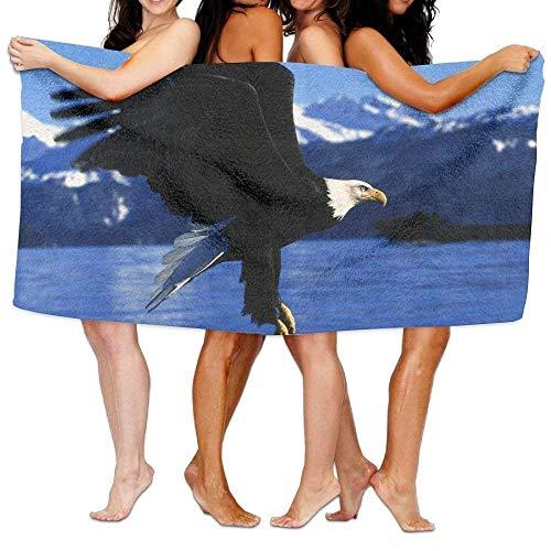 X-Large Bath Towels, Flying Eagle Blue Ocean Super Soft Ultra Absorbent Bath Towel for Men Women Kids, Bathroom (Eagles Paper Clip Holder)