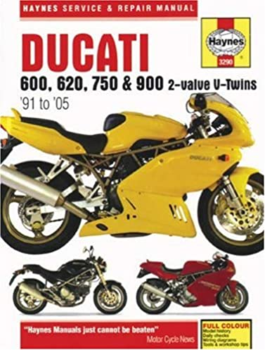 ducati 600 620 750 900 2 valve v twins 91 to 05 haynes rh amazon com ducati monster 620 workshop manual ducati monster 620 workshop manual