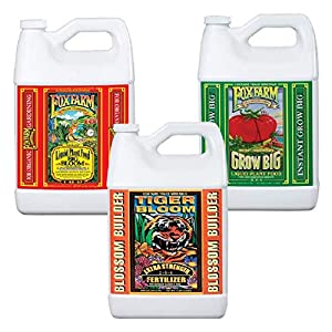 Fox Farm Liquid Nutrient Trio Soil Formula: Big Bloom, Grow Big, Tiger Bloom (Pack of 3)