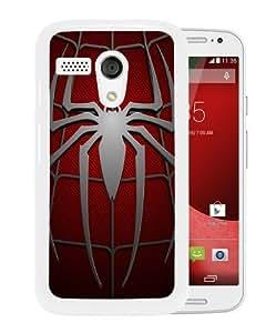 Motorola Moto G Spiderman Symbol White Screen Phone Case Fashion and Attractive Design