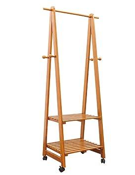 Soporte para suelo Todas las perchas móviles de madera ...