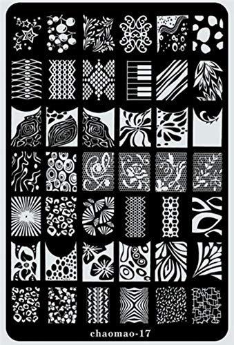 Nail Art - 9.5x14.5cm Nail Art Stamper Plate Gel Polish Tips Stamping Drawing art deco Image Transfer Guide Stencil Print Form Template