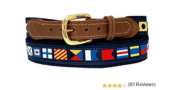 Nautical Cinturones, Código Banderas en azul marino Web: Amazon.es: Deportes y aire libre