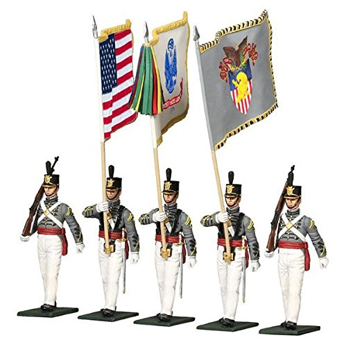 - W Britain Museum Collection 10034 - United States Military Academy, West Point, Cadet Color Guard, Present Day 5 Piece Set 1/30 Scale Hand Painted Metal Figures Compatible with Thomas Gunn Frontline King and Country Toy Soldiers