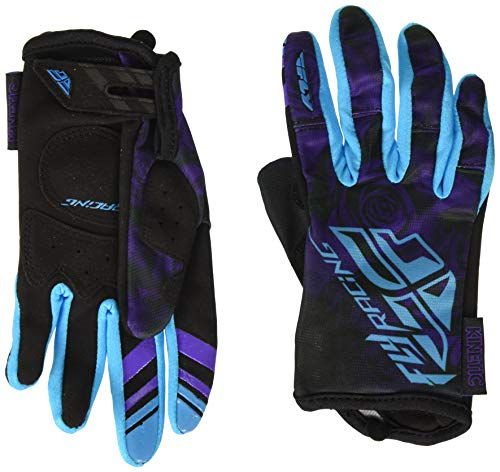 Fly Racing Unisex-Adult Kinetic Ladies Gloves (Purple/Blue, X-Small)