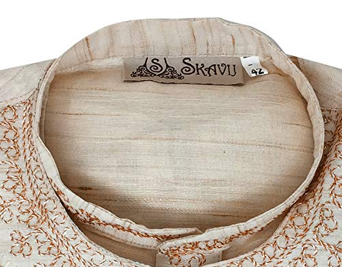 125d271e54e Kurta Pajama Stole and Overcoat Set for Men 4-Pieces Long Sleeve Sherwani  Wedding Party Wear Dress