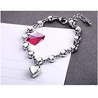 Starshiny Love Heart Swarovski Elements Crystal Bracelet Adjustable Hand Chain Jewelry Gift for women