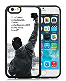 Generic iPhone 6 TPU Case,Rocky Balboa Motivational Words Black Cover Case For iPhone 6S 4.7 inches