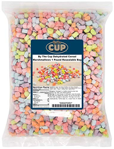 By The Cup Dehydrated Cereal Marshmallows 1 Pound Resealable Bag