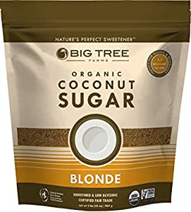 Big Tree Farms Organic Coconut Sugar, Non-GMO, Gluten Free, Vegan, Fair Trade, Natural Sweetener, Blonde, 2 Pound