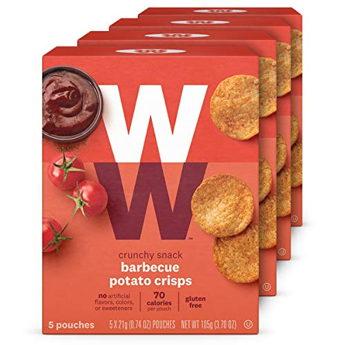 WW Barbecue Potato Crisps - Gluten-free, 2 SmartPoints - 4 Boxes (20 Count Total) - Weight Watchers Reimagined