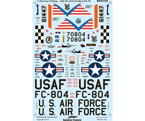 F-102 A Delta Daggers: Case XX Wings: 57, 325 FIS (1/48, used for sale  Delivered anywhere in USA