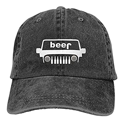 PLHEY Adult Adjustable Jeep Beer Bottle Spare Tire Cover Jeans Caps Fashion Quick Drying Cap