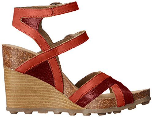 Voler Londres Womens Aube Wedge Pompe Cordoba Rouge / Diable Rouge Mousse / Sebta