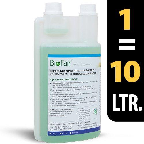 BioFair® Concentré de nettoyage pour installations photovoltaïques sur la base tensioactifs uniquement végétale sucre 1000ml–Très économique. 1: 10–Livraison gratuite.