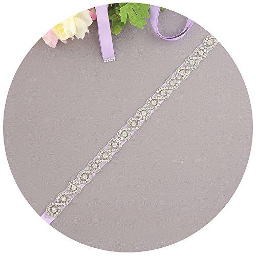 Lavender Ribbon Wedding - Azaleas Women's Wedding Belt Sashes Bridal Sash Belts for Wedding Dress (Lavender)