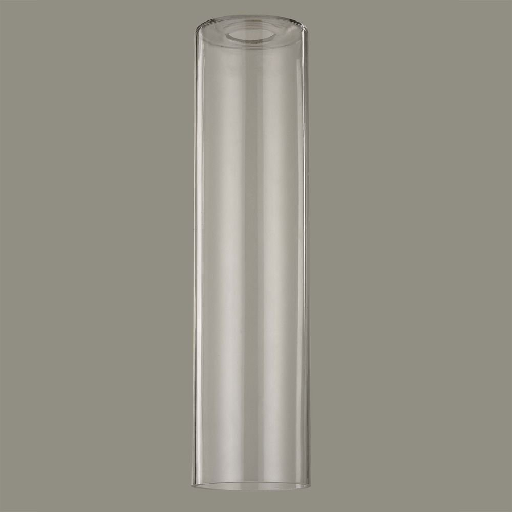 16-Inch Tall Cylinder Clear Glass Shade with 1-5/8 Fitter