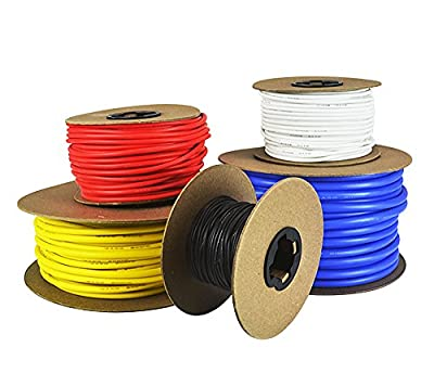 6 AWG Gauge Silicone Wire - Fine Strand Tinned Copper - Available in Red, Black, Yellow, White, and Blue