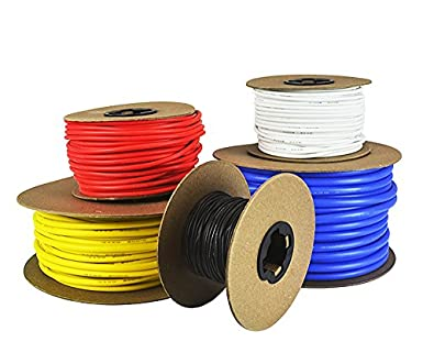 Amazon 6 awg gauge silicone wire fine strand tinned copper 6 awg gauge silicone wire fine strand tinned copper available in red black greentooth Gallery