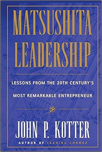 Matsushita Leadership 9780684834603 Management at amazon
