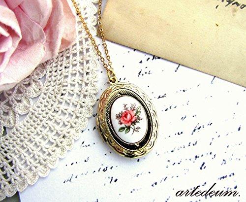 Porcelain Cameo Pendant Necklace - 7