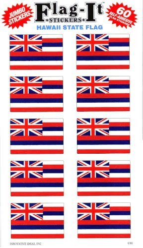 Hawaii flag stickers for home or school (Stickers Flag Hawaii)