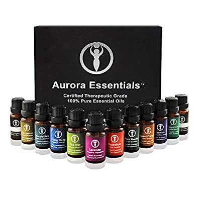 Aromatherapy Essential Oils 100%PURE Top 10 Gift Set Box. Kid Safe Pack. Boost Immunity, Health, Calming Sleep & Energy. Get Relief from Arthritis, Anxiety & Stress. High Quality Oils
