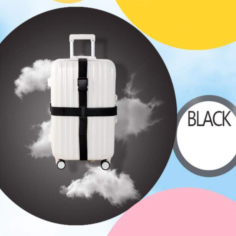 200 mm *180 mm *Largeur de Bande 5 mm Croix /à 2 Sens Noir Xinlie Sangle de Bagages Voyage Luggage Strap Sangle de Transport R/églable Sangle de Fixation pour Bagage Sangle de Fixation pour Dragonne