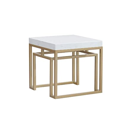 Amazon.com: Simple Side Table/end Table, Thick Marble Table ...