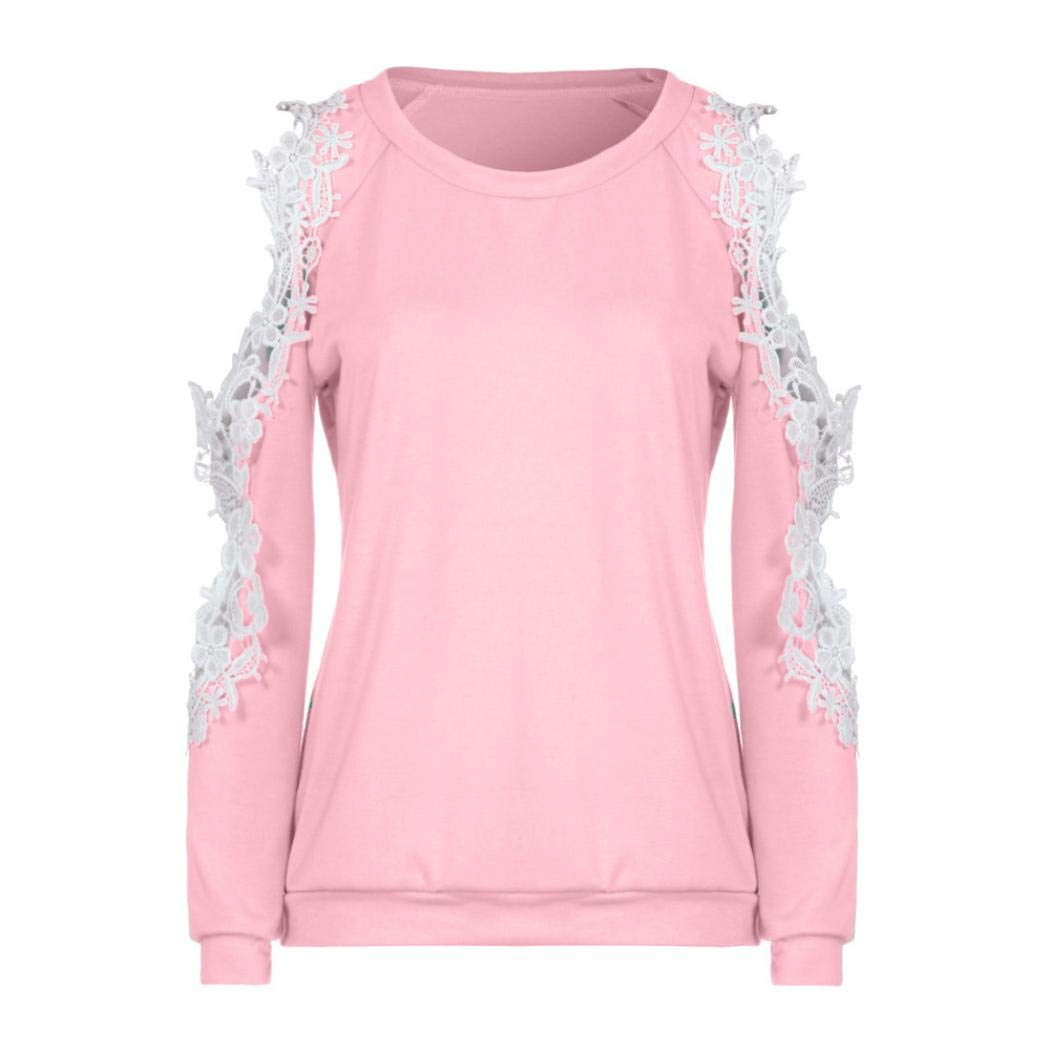 Clearance Women Tops LuluZanm Long Sleeve Blouse Ladies Casual Tops Shirt Off Shoulder Lace Top: Amazon.com: Grocery & Gourmet Food