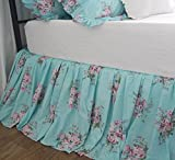 Victorian Chic Rose Printed Bed Skirts Vintage Floral Dust Ruffles Bedskirt