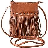 Women's Leather & Fringe Crossbody Bag