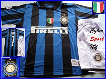 on sale 25438 8cb1d INTER Milan Italy Soccer Jersey with Shorts Luis FIGO, Adult ...