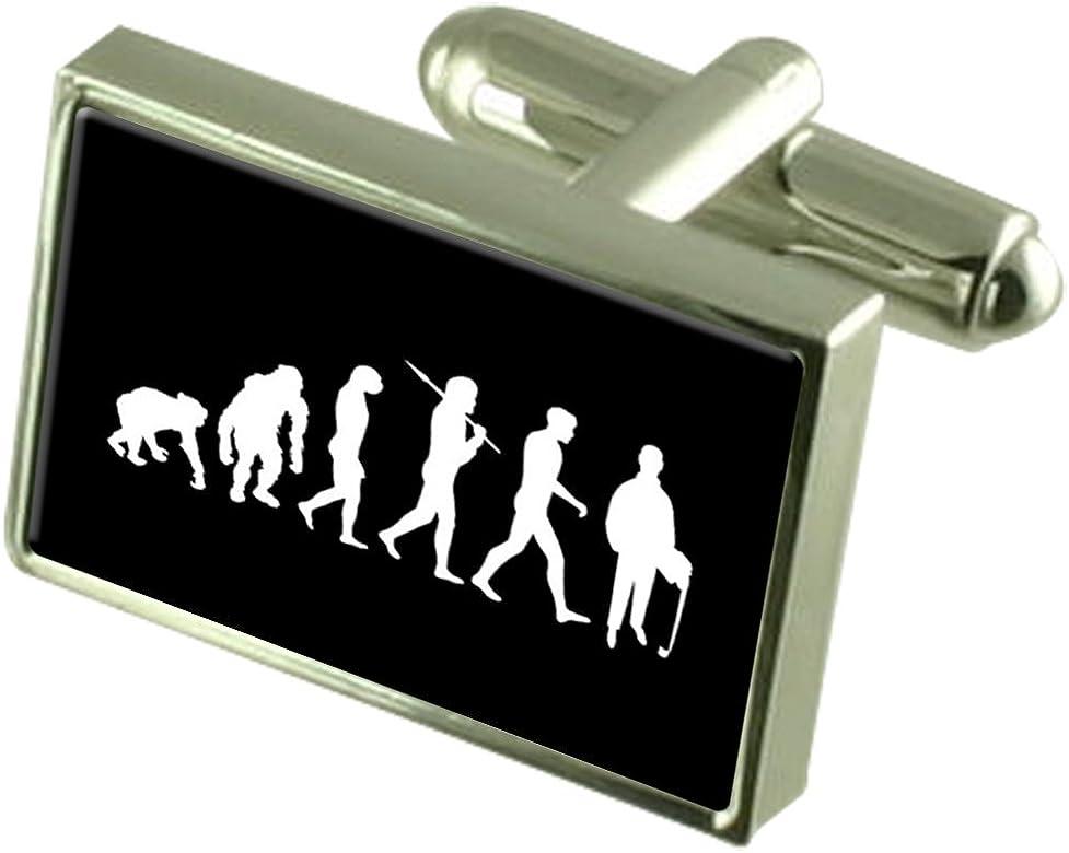 Select Gifts Evolución Ape Man Contable en Caja Gemelos Plata 925 ...