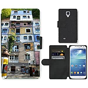 Hot Style Cell Phone Card Slot PU Leather Wallet Case // M00170787 Dog Water Vienna Architecture Art // Samsung Galaxy S4 S IV SIV i9500