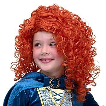 Disney Store auténtico; Mérida peluca del traje de Brave