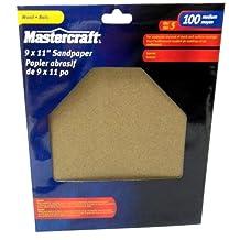 Mastercraft-5-PACK- 9 x 11-in-Garnet Sandpaper,100 Grit Medium-Full Sheet